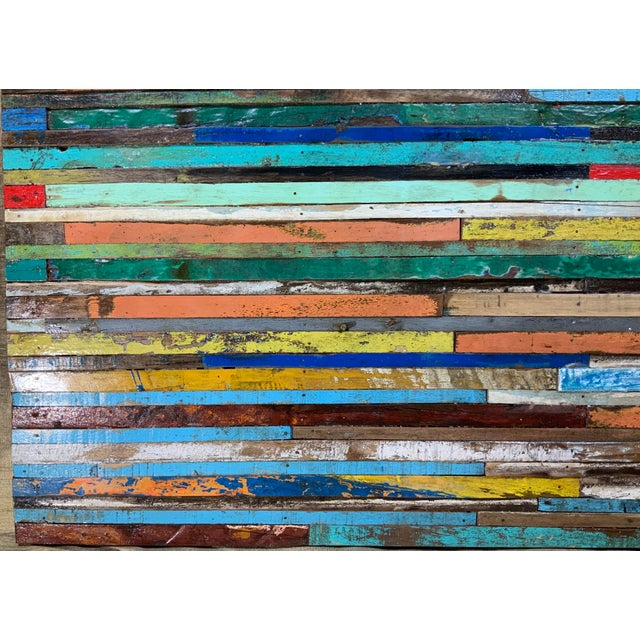 Abstract Reclaimed Wood Wall Sculpture For Sale In Miami - Image 6 of 13