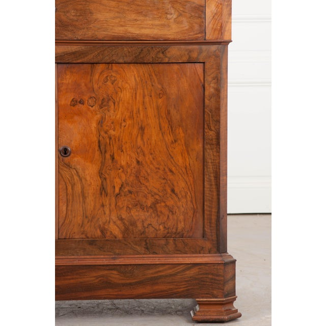 French 19th Century Louis Philippe Walnut Drop-Front Desk For Sale - Image 10 of 12