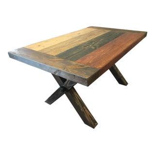 Hand Built Farmhouse Table For Sale
