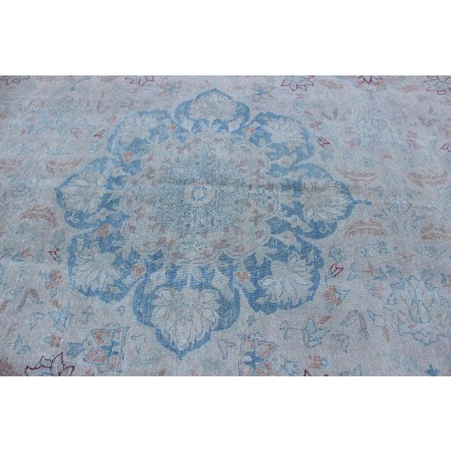 Vintage Tabriz Wool Rug - 10′ × 14′1″ For Sale In Los Angeles - Image 6 of 10