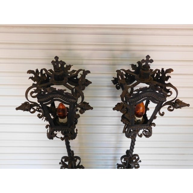 Converted Street Post Lamps - A Pair - Image 7 of 11