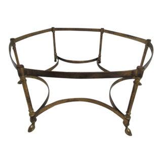 Vintage French Regency Brass 6 Leg Hoof Foot Coffee Table Base