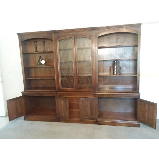 Mid-Century Modern 1960s Ethan Allen 6 Piece Bookcase Wall Unit For Sale - Image 3 of 9