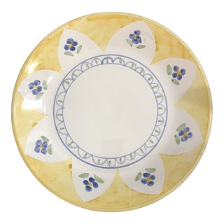 Caleca of Italy Hand Painted Serving Platter For Sale