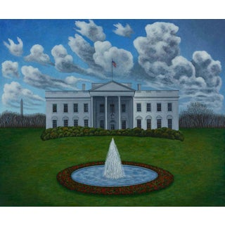 The White House, Limited Edition Pigment Print, Scott Kahn For Sale