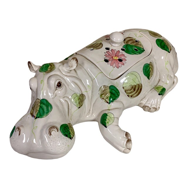 Fitz & Floyd Hippo Serving Piece / Flower Frog For Sale