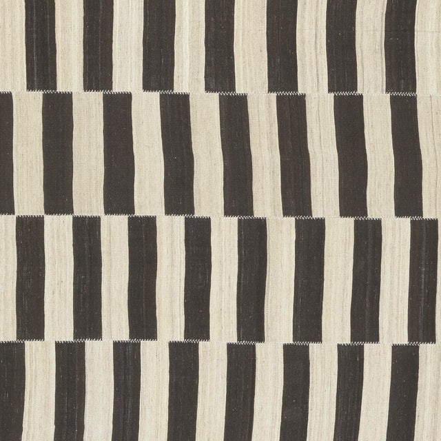 1940s Vintage Persian Kilim Composition Rug- 9′ × 11′ For Sale - Image 5 of 6