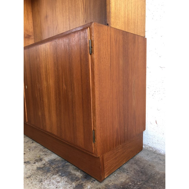 Vintage Mid Century Danish Modern Filing Cabinet With Hutch by Poul Hundevand For Sale In Miami - Image 6 of 13