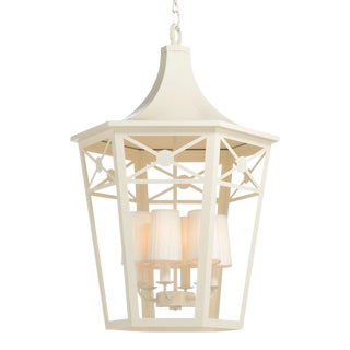 Church Court Lantern, White For Sale