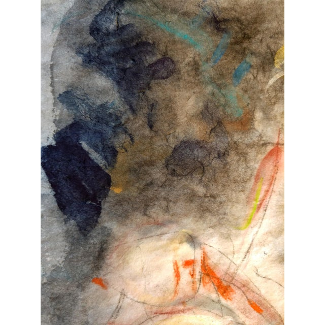 """""""Woman Washing Her Hair"""" Abstract Figurative Painting For Sale - Image 4 of 5"""