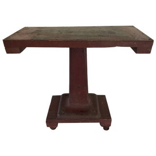 Industrial Steel Empire Style Console Table For Sale