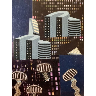 """UFOs in the City"" Nyc Artist John Peters For Sale"