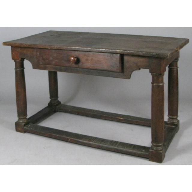 Brown 18th Century Antique Italian Walnut Table For Sale - Image 8 of 8