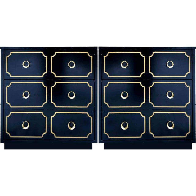 """1970s Hollywood Regency Dorothy Draper Style """"Espana"""" Bunching Chests - a Pair For Sale - Image 11 of 11"""