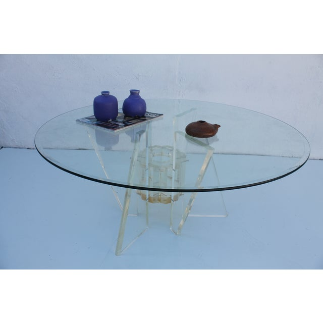 Sculptural Lucite Glass Coffee Table Chairish