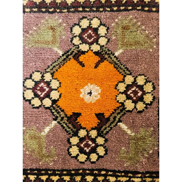 Folk Art Vintage Handmade Wool Wall Hanging For Sale - Image 3 of 4