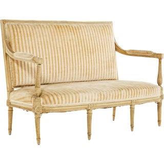18th Century Louis XVI Painted Settee For Sale