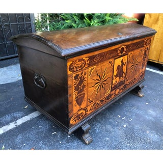 Antique Early 19th C Italian Inlaid Hope Chest Trunk Preview