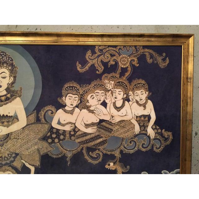 Framed Cultural Theme Indonesian Batik Artwork - Image 8 of 11