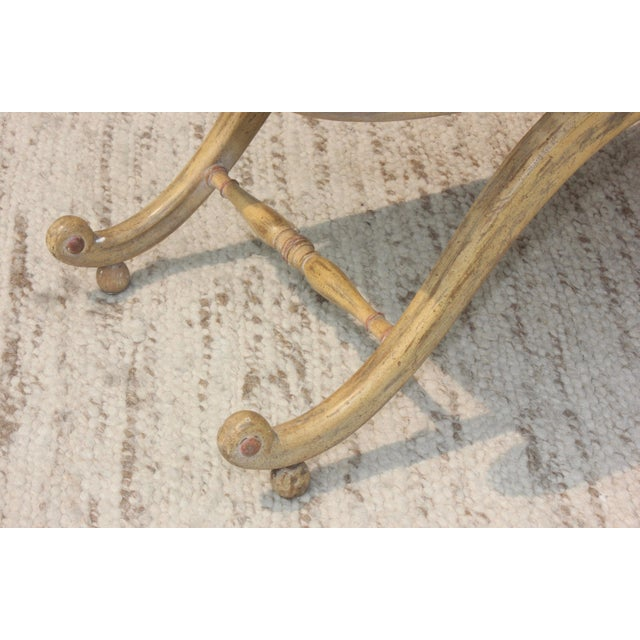 1940s French Scroll Arm Bench For Sale - Image 12 of 13