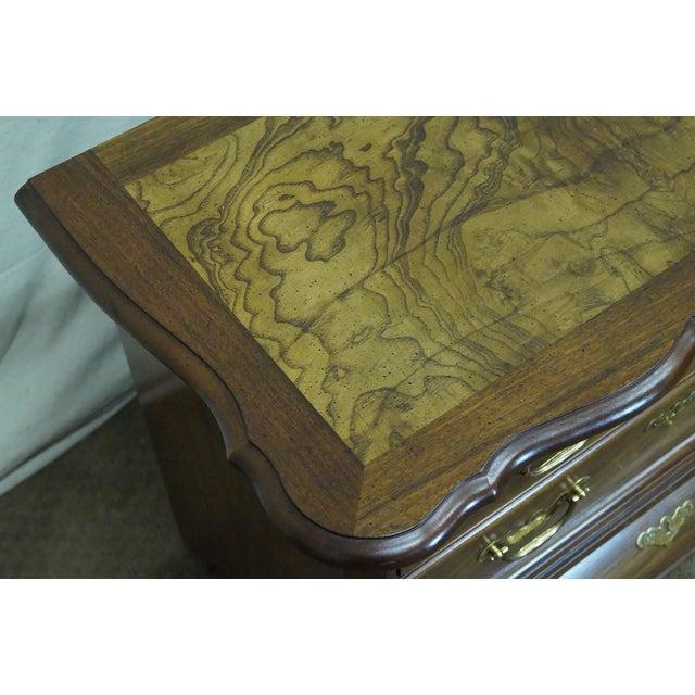 Baker Furniture Burl Wood & Walnut Bombe Chest - Image 9 of 10