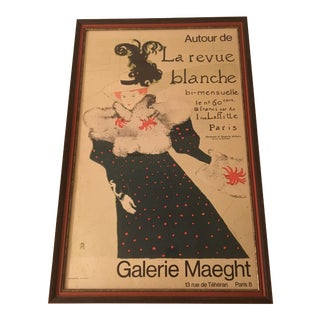 Toulouse-Lautrec Framed Lithograph Print for Galerie Maecht