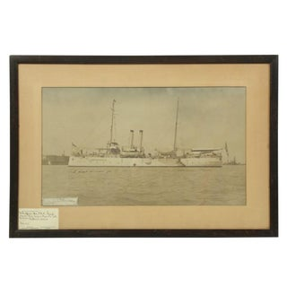 Admiral Dewey Uss Isle De Luzon Signed Photo For Sale