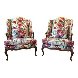 Louis XV Wingback Chairs - A Pair
