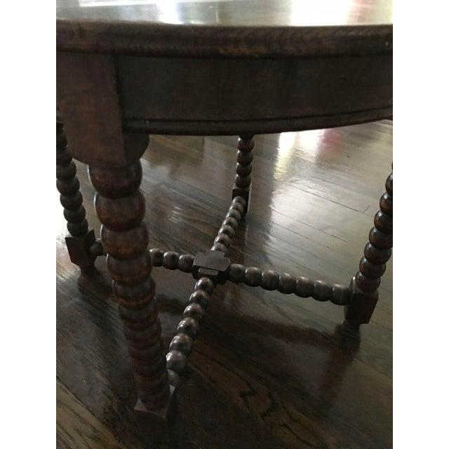 Round Wood Bobbin Table - Image 6 of 6