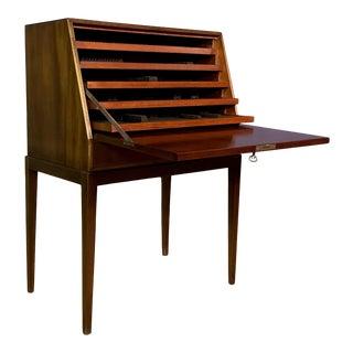 Fritz Henningsen Mahogany Silverware Flip-Down Cabinet, 1970s For Sale