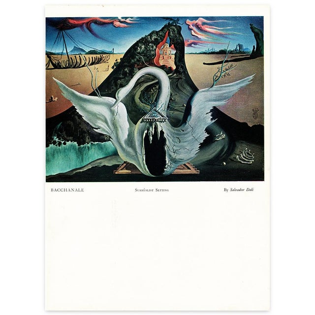 French 1939 Salvador Dalí Original Two Sided Lithograph For Sale - Image 3 of 8