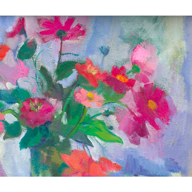"""""""Begonias, Cosmos and Zinnias"""" giclee by Amy Griffith Colley. This is a print (giclee) of the original painting, made to..."""