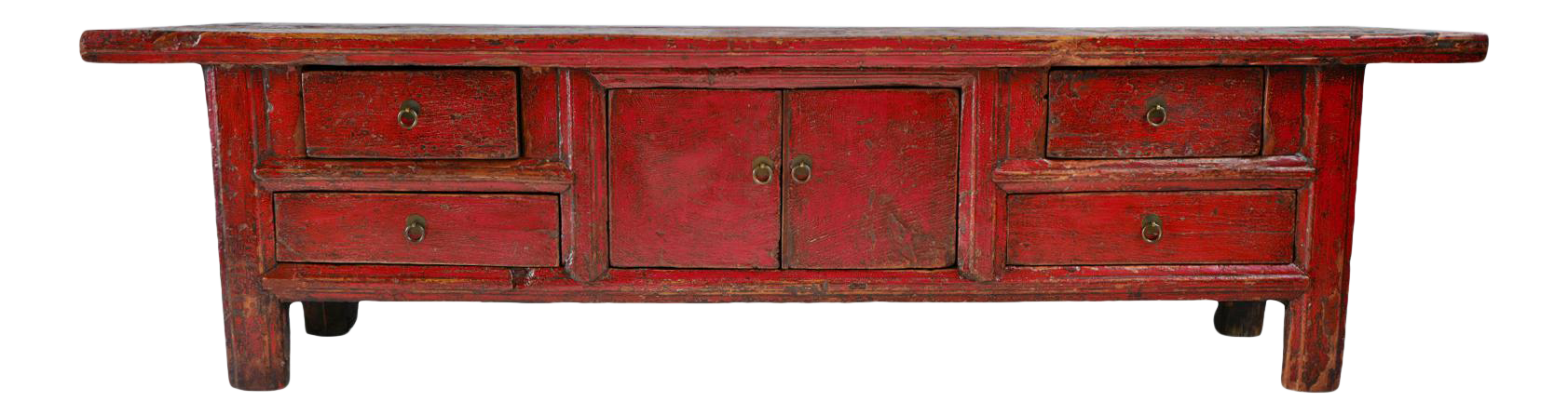 Red Mongolian Low Cabinet Bench  sc 1 st  Chairish & Vintage u0026 Used Storage Benches for Sale   Chairish