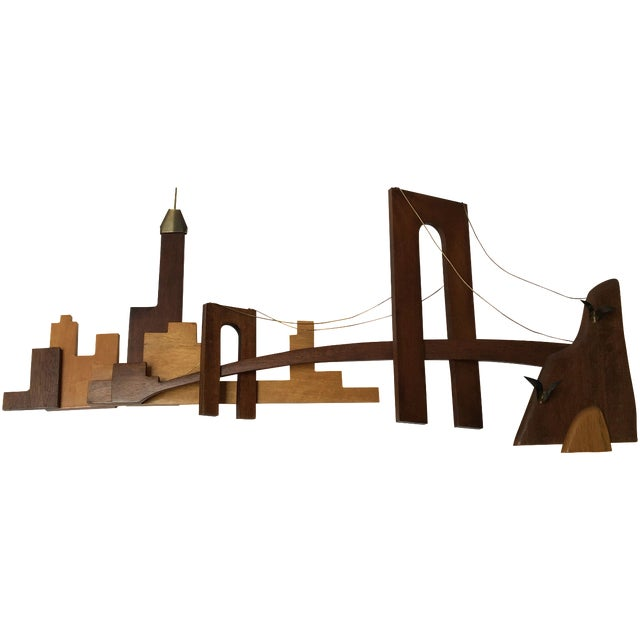 Vintage Wooden Wall Sculpture - Image 1 of 10