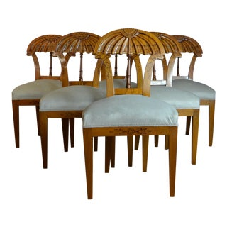 Late 20th Century Biedermeier Style Dining Chairs- Set of 6 For Sale