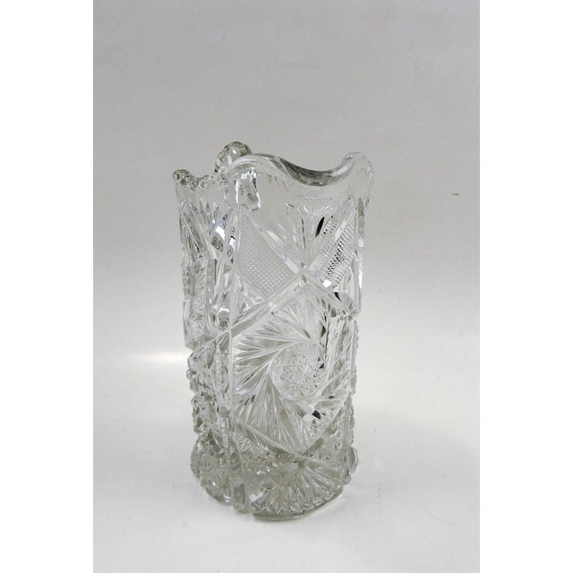 Antique Press Glass Pitcher For Sale - Image 4 of 7