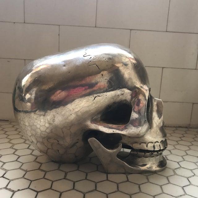 Large Vintage Silver Metal Skull - Image 8 of 11