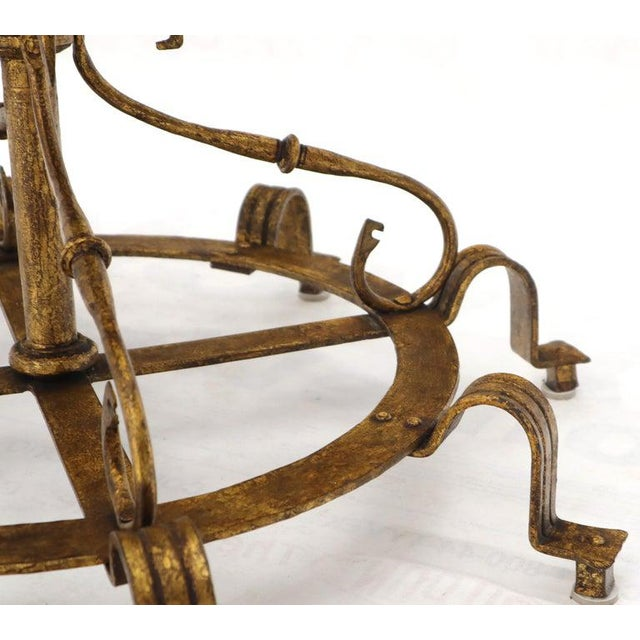 Large Italian Wrought Iron Gold Gilt Planter For Sale - Image 12 of 13