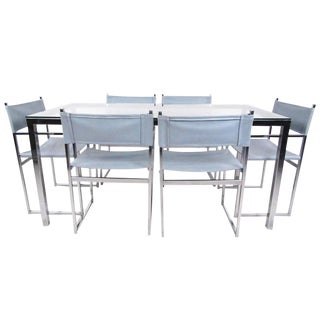 Mid-Century Modern Milo Baughman Style Dining Room Set For Sale