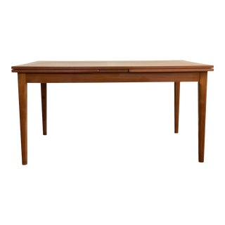 1960s Contemporary Skovby Mobelfabrik Teak Dining Table With 2 Leaves For Sale