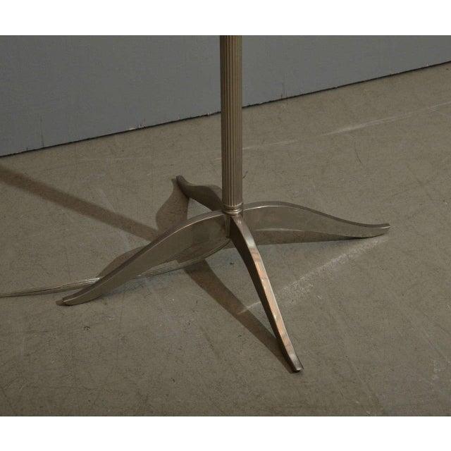Sleek Modern Nickel Floor Lamp - Image 6 of 6