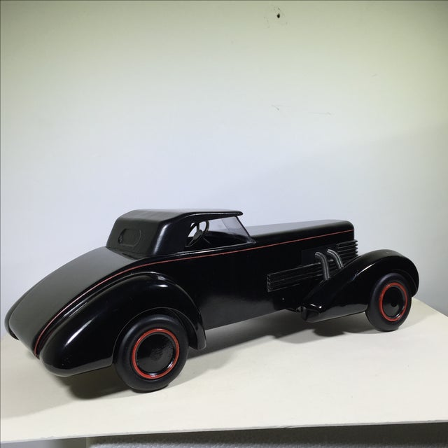 Cord 1930 Limited Edition Wood Model Car For Sale - Image 9 of 10