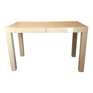 West Elm Parsons Desk - White Lacquer