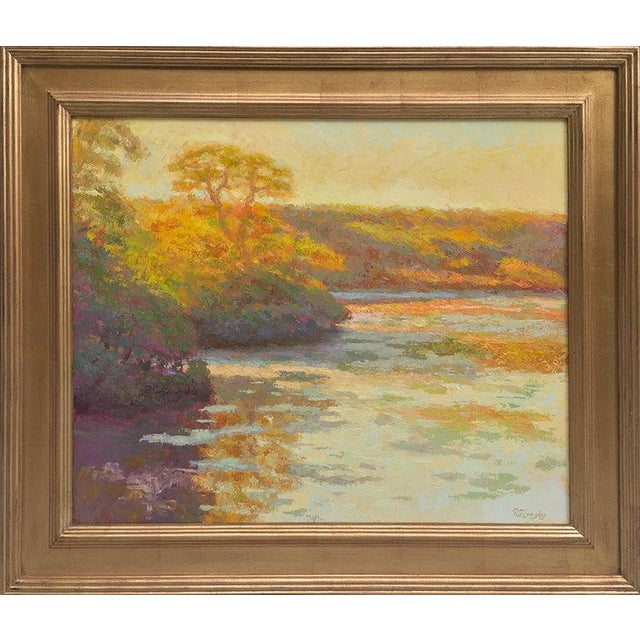 Gold Rob Longley, Autumn Afternoon, Beech Forest Pond, 2013 For Sale - Image 8 of 8