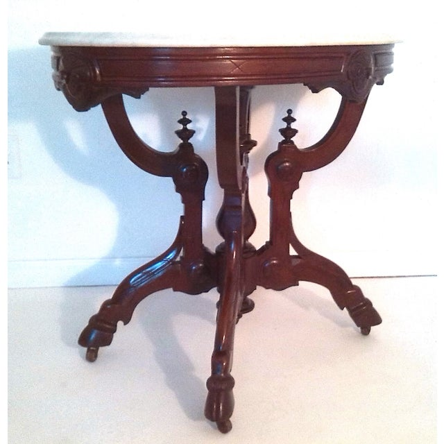 Marble Top Occasional Table (Oval) on Pied-De-Biche - Image 2 of 5