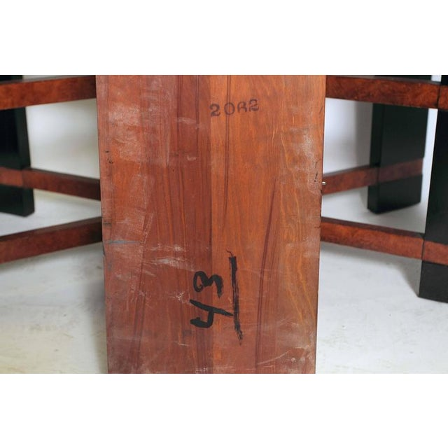 Art Deco Hastings Dining Table / Chairs Double X-Base Teague / Deskey For Sale - Image 9 of 11
