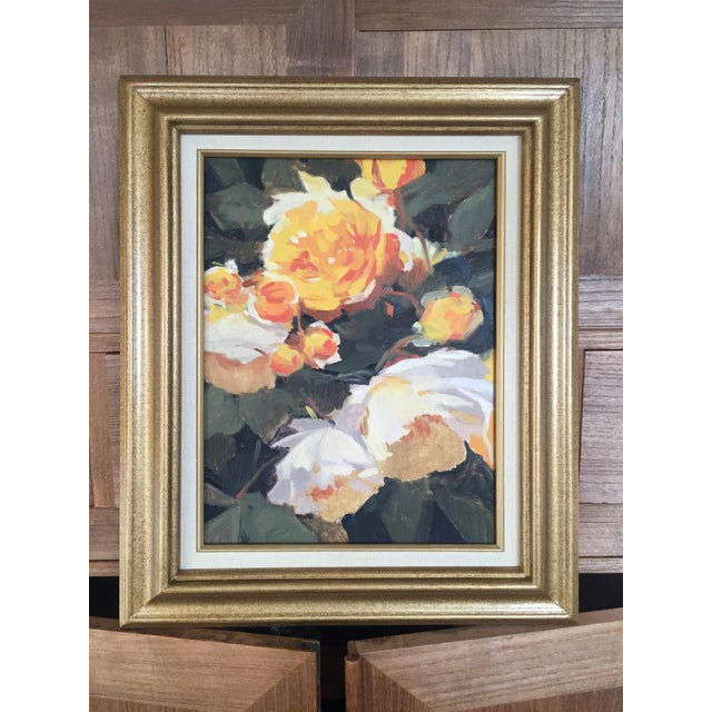 Vintage French Oil Flower Painting - Image 2 of 5