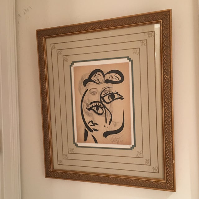 Peter Keil Early Mixed Media Drawing Painting For Sale - Image 12 of 12