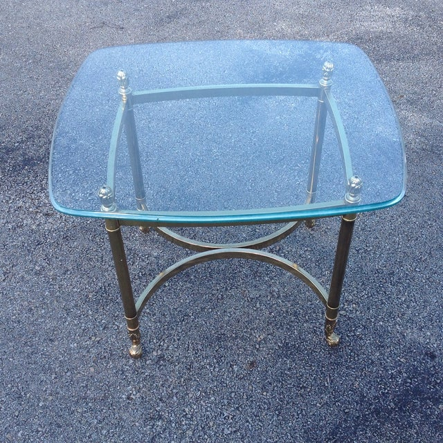 Brass La Barge Hollywood Regency Side Tables a Pair - Image 6 of 6