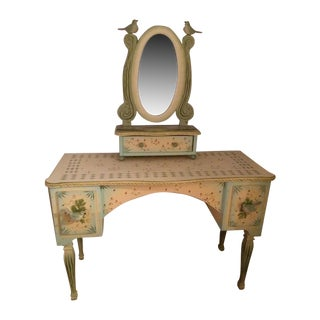 Hand Painted and Carved Vanity